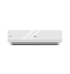 Split air conditioner realistic vector