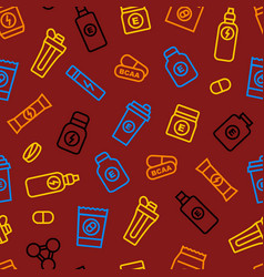 sport supplements seamless pattern background vector image