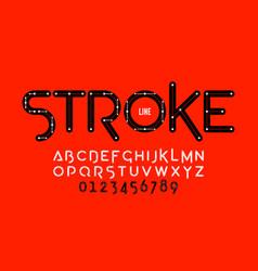 Stroke line font design vector