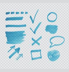 Transparent highligter spots vector