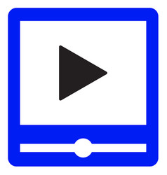 video player interface color icon vector image