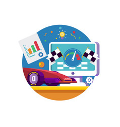 web traffic internet iconweb browser with vector image