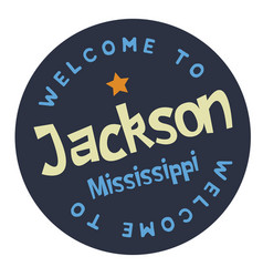 Welcome to jackson mississippi vector