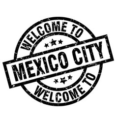 Welcome to mexico city black stamp vector