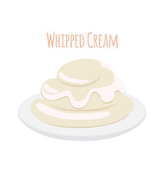 Whipped cream milk product dairy sweet yogurt vector