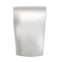 White blank foil food snack sachet bag vector