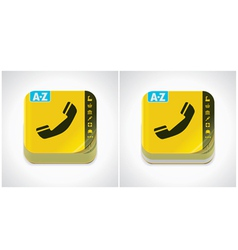 yellow phone book icon vector image