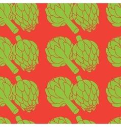 doodle of artichoke seamless pattern vector image vector image