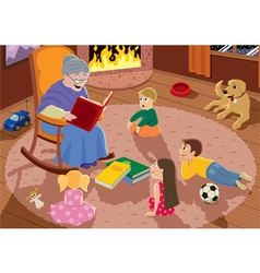 grandmother vector image vector image