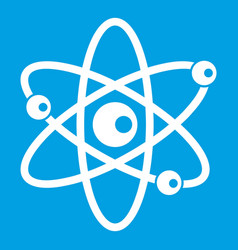 molecules of atom icon white vector image vector image