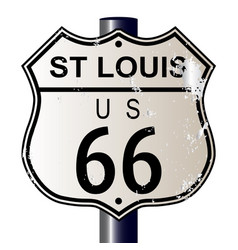 St louis route 66 sign vector