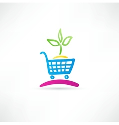 Symbol is ecological shopping vector image vector image