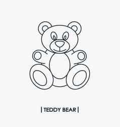 teddy bear outline icon vector image vector image