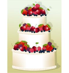 big birthday cake vector image