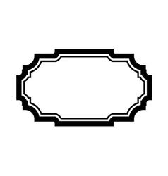 Black frame picture simple design vector image
