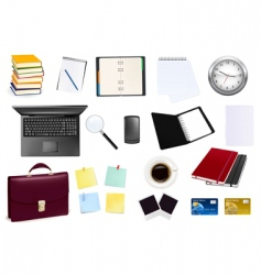 collection of business element vector image vector image