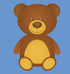 cute bear isolated on blue background vector image