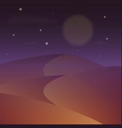 desert night starry night on the desert vector image