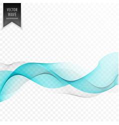 elegant blue wave on transparent background vector image vector image
