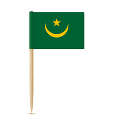 flag of mauritania vector image vector image