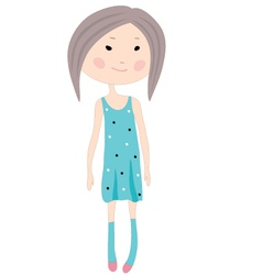 GCartoon little girl vector image vector image