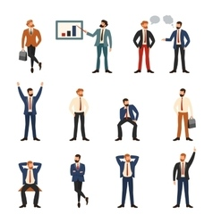 Group of business and office people vector image vector image