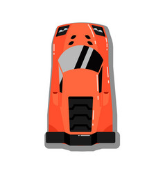 modern sport car top view icon vector image