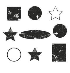 oval grunge label retro frames for emblems vector image