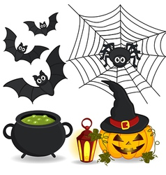 set of icon Halloween vector image vector image