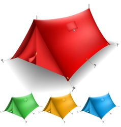 Tent set vector image vector image
