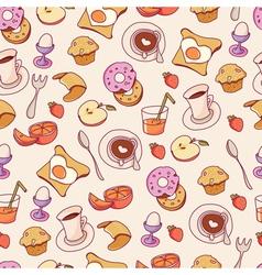 Breakfast pattern vector image