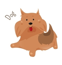 Dog isolated Sticker for kids Child fun icon vector image vector image