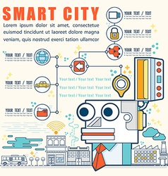 Infographic smart city vector image