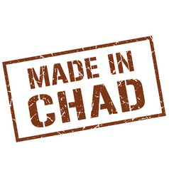 made in chad stamp vector image