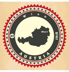 Vintage label-sticker cards of Austria vector image