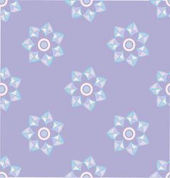 geometric seamless pattern floral vector image