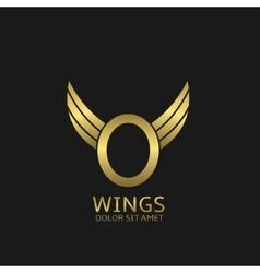 Golden O letter logo vector image vector image