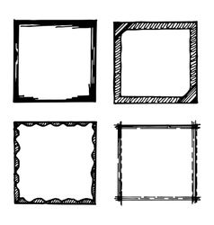 Hand drawn frames collection vector image