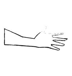 hand man player sport design vector image vector image