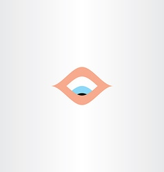 human eye looking down icon vector image