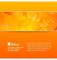 Orange triangle banner vector image