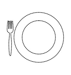 plate with vector image