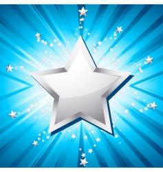 silver festive star vector image