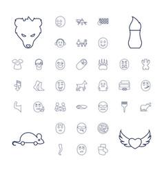 37 cartoon icons vector