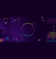 abstract geometric ultraviolet background modern vector image