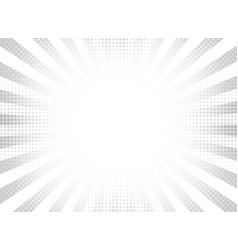 abstract gray halftone rays circle background vector image