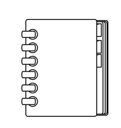 Adress book isolated vector