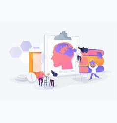 Alzheimer disease concept vector