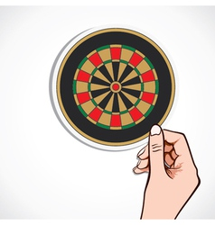 archery board in hand vector image