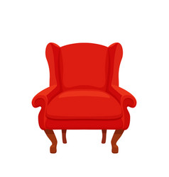Armchair colorful cartoon vector